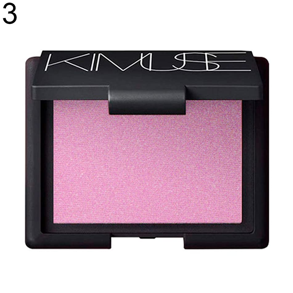 wewa98698 Kimuse Exquisite Bake Blusher Palette, Waterproof&Long Lasting, Facial Makeup with Mirror&Brush Set for Women - 3#