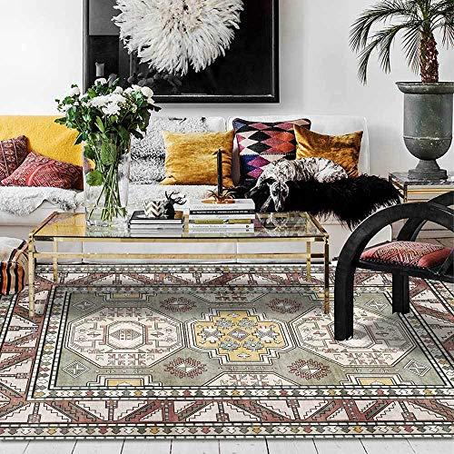 Teppich Moderner Wohnzimmer Große Area Rugs Alter geometrischer brauner ethnischer Stil Schlafzimmer Zimmer Teppich Sofa Tisch Kind Krabbeln Matte 100x160CM (3ft28''x5ft3)