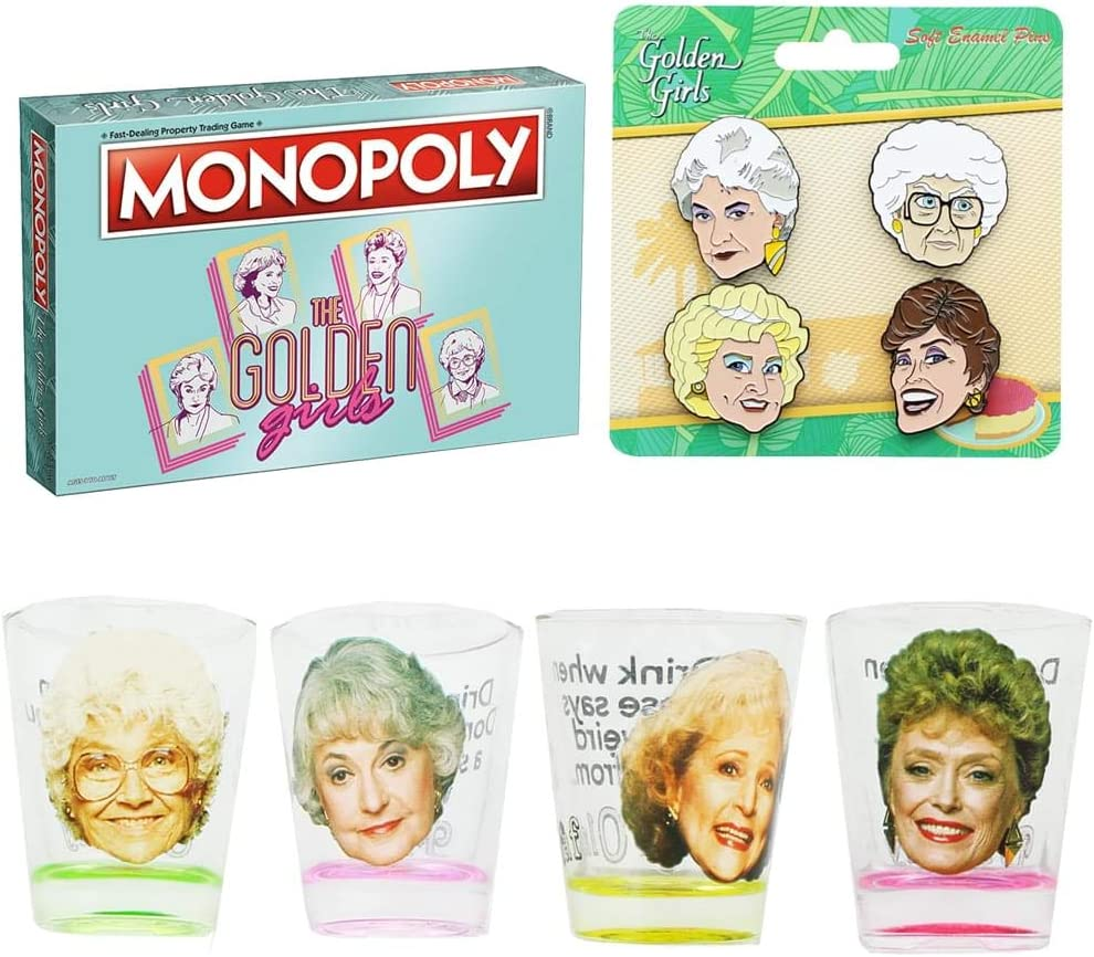 JUST FUNKY The Golden Girls Monopoly lowest price Board Game Glass Spasm price 4-Pa Shot