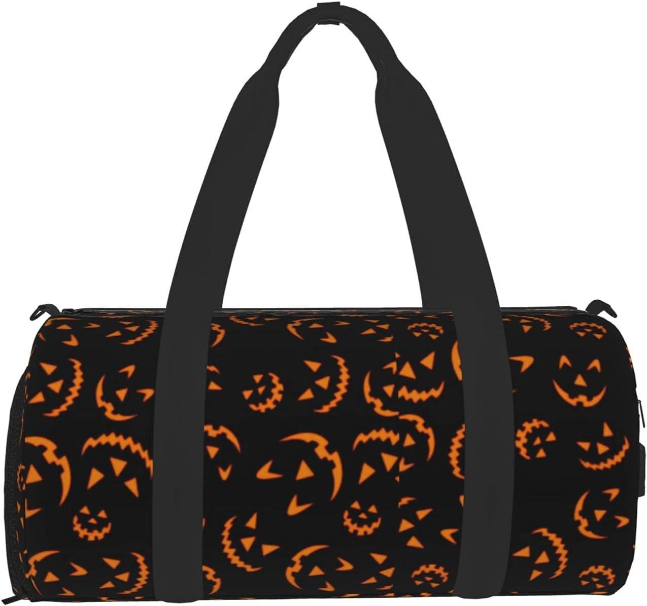 WMDYFYJ Gym Bag With Pumpkin Print Travel Max 81% OFF Weekend NO. National uniform free shipping Duffel