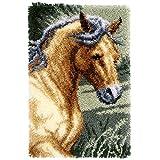 Vervaco Knüpfteppich Pferd Knüpfpackung zum Selbstknüpfen eines Teppichs