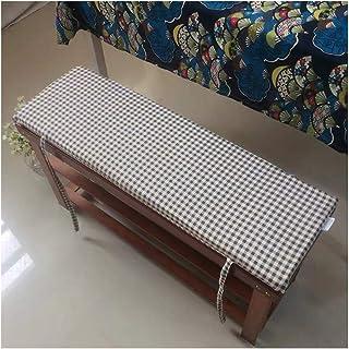Yzzlh - Cojín de banco antideslizante con corbata, columpio de 2 ó 3 plazas, almohadilla de repuesto para asiento de viaje en interiores y exteriores, 3 cm de grosor, lavable (120 x 30 cm)