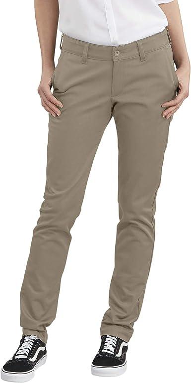 Amazon Com Dickies Women S Straight Flex Twill Pant Clothing