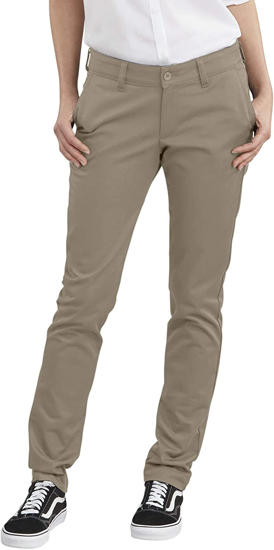 Dickies Mujer Pantalon De Sarga Flexible Recto Pantalones Tipo Caqui Amazon Es Ropa Y Accesorios