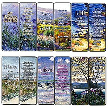 Christian Bookmarks Cards - in Christ Alone  30-Pack  - Gift Ideas for Sunday School Youth Group Church Camp Bible Study - Easter Day Thanksgiving Christmas - Prayer Cards - War Room Decor