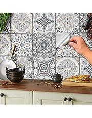 24 stuks mozaïek vloerstickers muurtegel stickers voor 15x15cm tegels tegelstickers voor badkamer en keuken decoratie tegelfolie voor badkamer en keuken