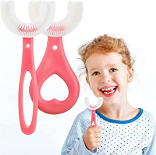 2 stks Kids U Shape Tandenborstel Food Grade Zachte Siliconen Borstel Hoofd 360 ° Orale Tanden Reiniging Hele Mond Tandenb...