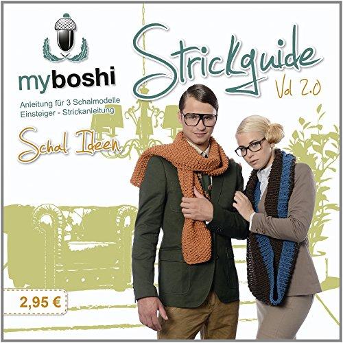 myboshi kleiner Strickguide Anleitung für 3 Schalmodelle