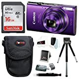Canon PowerShot ELPH 360 HS Digital Camera (Purple) w/ Sony 16GB SD Card & Focus Accessory Bundle
