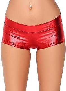 Metallic Booty Shorts Shiny Bottoms for Raves, Festivals,...