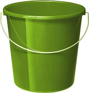 Rotho Vario Seau de 10 l avec Anse, Plastique (PP) sans BPA, Vert, 5 l (28,0 X 28,0 X 26,0 cm)