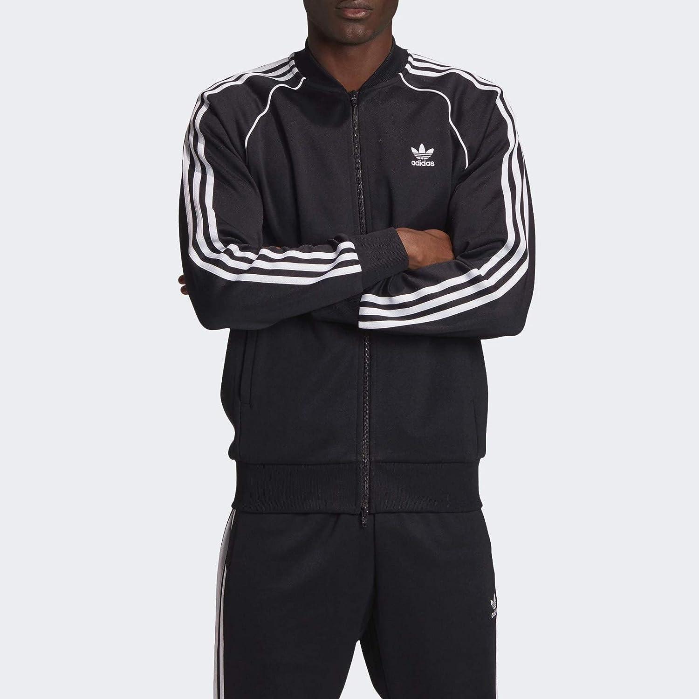 adidas Originals mens SST TT P BLUE BLACK//WHITE Jacket