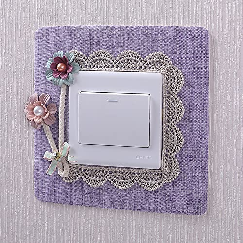 Pegatinas de pared para decoración del hogar con interruptor de agua para lavar la pared (color: morado)