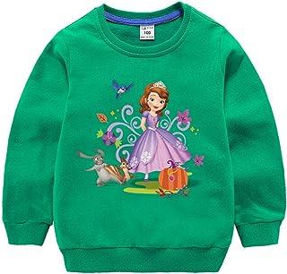 Short-Sleeve Canada Dog Paw Shirts for Kids Kawaii Sweatshirt with Falbala 2-6T