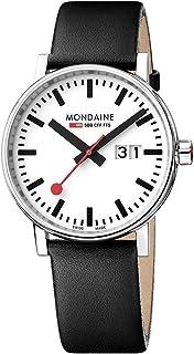 Mondaine - Evo2 - Reloj de Cuero Negro para Hombre y Mujer, MSE.40210.LB, 40 MM