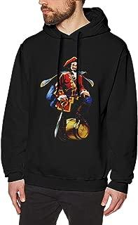 Dejonea Men Captain Morgan Vanguard Spiritual Trendy Sweater Hoody Black