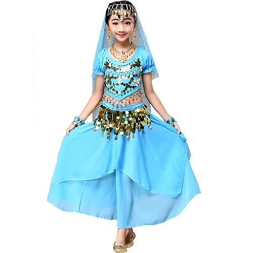 ae468bd26ce6c Astage Girl Halloween Belly Dance Costume Outfit Indian Oriental Carnival  All Set