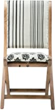 Boraam 85005 Misty Folding Dining Chair, Black, Beige, Natural, Pattern 2