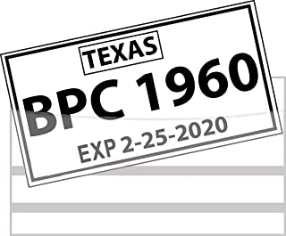 Temporary License Plate Bag with Adhesive - Pack of 100