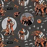 Camelot Fat Quarter Rogue One Star Wars Figuren auf schwarz