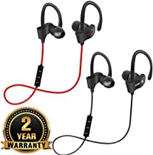 Drumstone [Buy ONE GET ONE Free] Qc10 Bluetooth Headset Earphone with inbuilt Rechargeable Battery and Calling Functions for All Smartphones