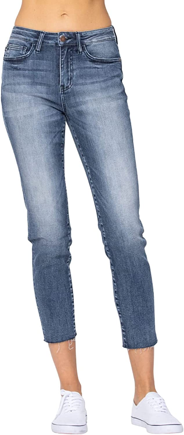 Judy Blue Raw Hem Relaxed Fit - (88191)