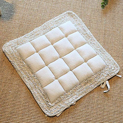 Set Of 4 Chair Cushions Cotton Quilted Seat Cushion Thicken Non Slip Patio Chair Cushion Windows Leisure Cushions Japanese Futon Chair Pad Home Decor Cushions
