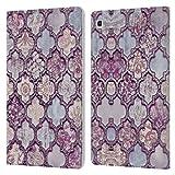 Head Case Designs Officiel LebensArt Maroc Violet Glamour Coque en Cuir à Portefeuille Compatible avec Samsung Galaxy Tab S5e