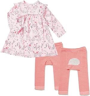 Angel Dear Wildwood Muslin Empire Dress and Leggings (2T) Pink