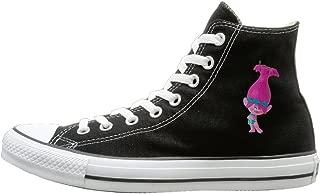 Men & Women SLJD Women's Trolls Princess Poppy Ornament Design High Top Sneakers Canvas Shoes Design Sport Shoes Cool Black