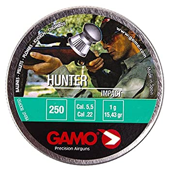 Gamo Pellets Hunter  Round Nose  .22 Cal Tin of 250