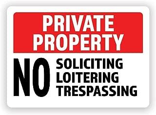 no trespassing sticker