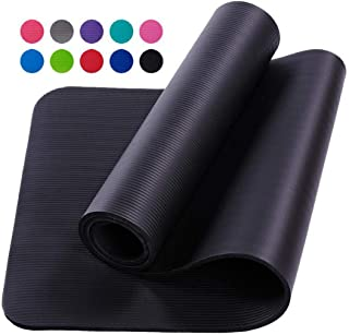 Yoga mat thick Yoga Mats| Yoga Mat Thick 10mm 183cm X 61cm Non-slip Slimming Exercise Fitness Gymnastics Mat Body Building...