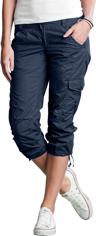 ellos Women's Plus Size Stretch Cargo Capris Pants