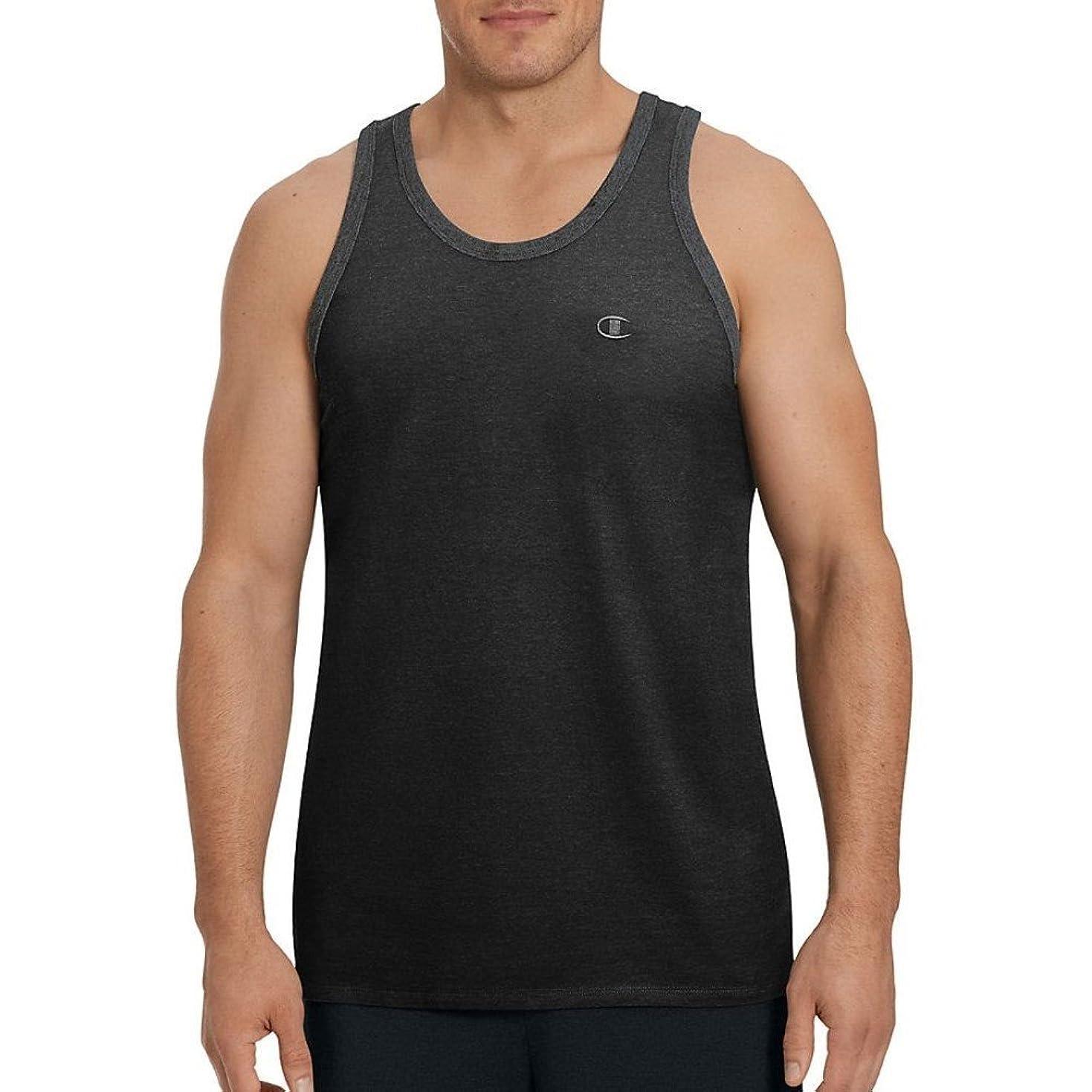 共産主義状製造業(チャンピオン) Champion メンズ トップス タンクトップ Classic Cotton Ringer Sleeveless Shirt [並行輸入品]