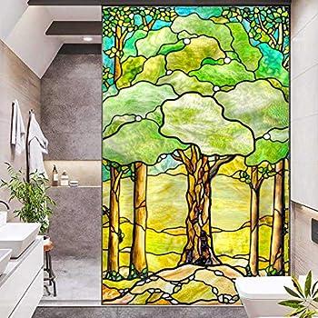 J4U Window Film Privacy Tree of Life Decorative Window Sticker No Glue Static Window Cling Frosted Window Decals for Home/Office31.5 x47.2  80x120cm