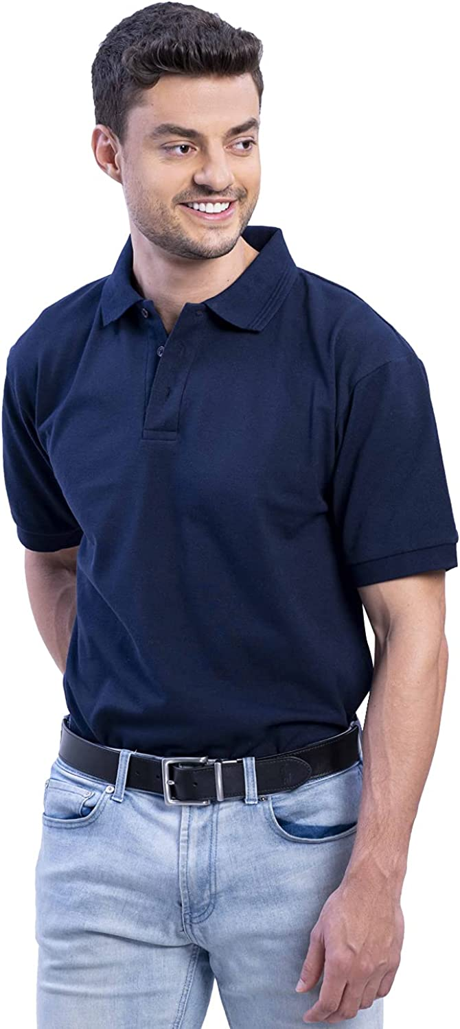 VTH GLOBAL Ranking TOP17 Men's Short Sleeve Blue Shirts Polo Navy Max 57% OFF Cotton