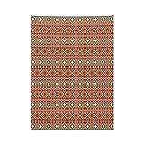 ABAKUHAUS Aztekenmuster Wandteppich & Tagesdecke, Kulturell Peru Motiv, aus Weiches Mikrofaser Stoff Für den Wohn & Schlafzimmer Druck, 110 x 150 cm, Mehrfarbig