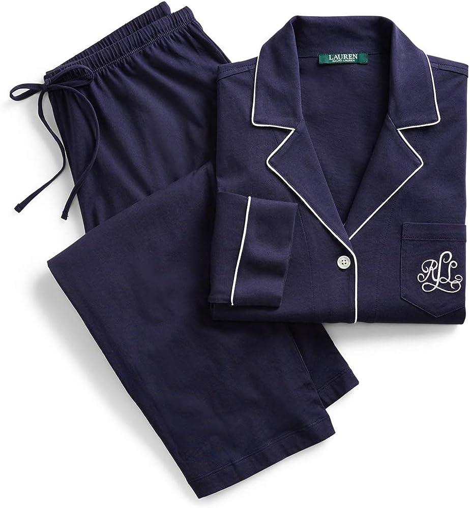 Ralph lauren,pigiama con bottoni,in 60% cotone, 40% modal I819950