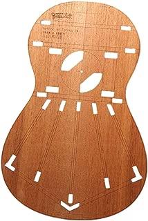 DIY Guitar Body Layout Template Premium Guitar Building Templates for Torres 2 Classical Guitars