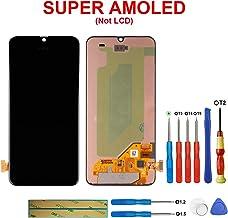 SWARK Super AMOLED - Pantalla táctil Compatible con Samsung Galaxy A40 SM-A405F, SM-A405FN, SM-A405FM (sin Marco), Color Negro