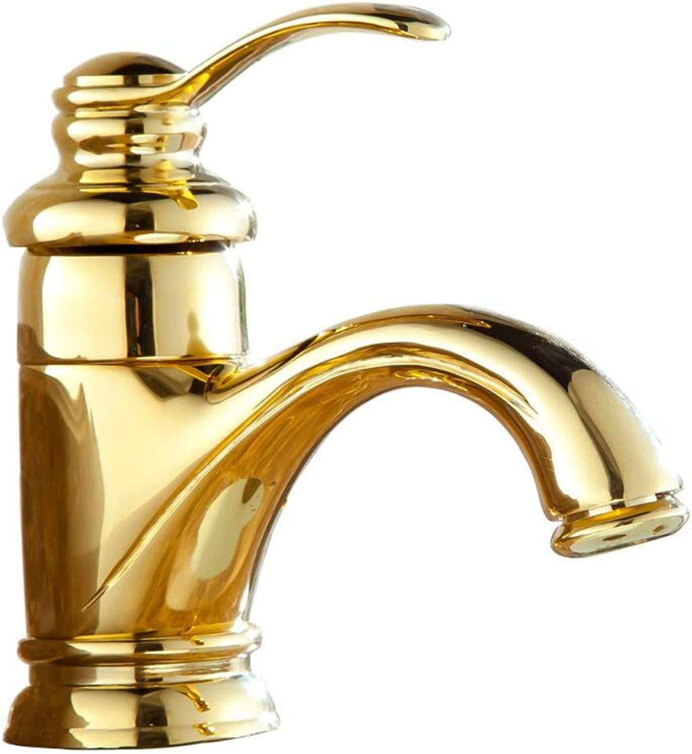 Faucetbathroom Faucet Basin Faucets golden Modern Deck Mounted Bathroom Sink Faucet Washbasin Single Handle Hot and Cold Water Taps