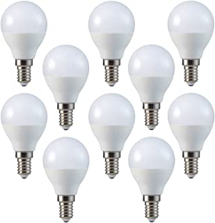 Conjunto de 10 - ZoneLED SET - E14 - Bombilla LED - SAMSUNG CHIP - 5.5W (Equivalente incandescente 40W) - luz blanca cálida 3000K - 470 lm - Ángulo de haz 180°