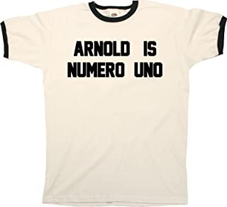 Arnold is Numero Uno Funny Mens Ringer T-Shirt Retro Style
