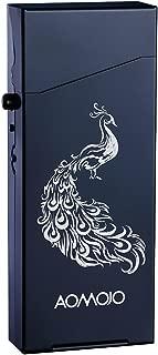Ladies Aluminum Cigarette Case/Box Ultra-Thin Custom Cigarette Box/Fancy Cigarette Holder Special Design Chinese Elements Metal Cigarette Case (Black)