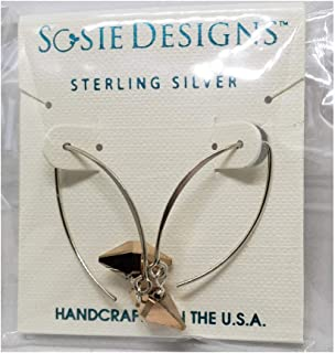 Sosie Designs Jewelry Crystal Double Spike Marquis Earrings, Rose Gold