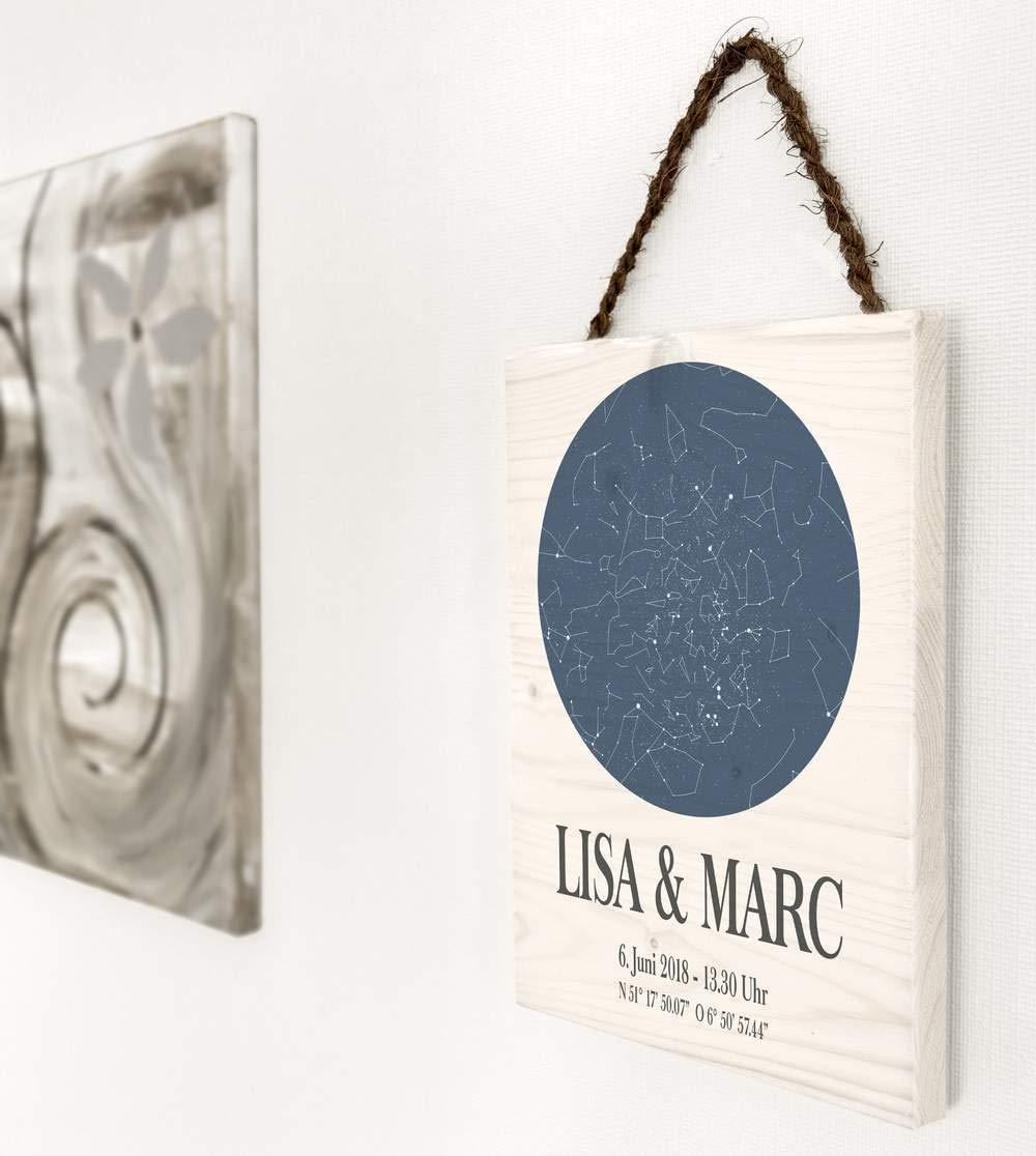 Dein Sternenhimmel   personalisiert hochwertig gedruckt auf Holz ...