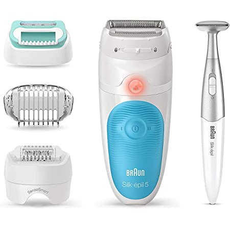 Braun Epilator Silk-épil 5 5-810, Hair Removal for Women, Shaver & Bikini Trimmer, Cordless, Rechargeable, Wet & Dry