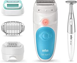 Sponsored Ad - Braun Epilator Silk-épil 5 5-810, Hair Removal for Women, Shaver and Bikini Trimmer, Cordless, Rechargeable...