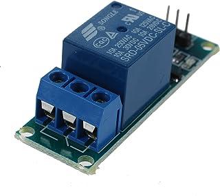 Modulo de Rele - TOOGOO(R) 5V Activo Bajo 1 Canal Rele Placa del Modulo por Arduino PIC AVR MCU DSP ARM Azul